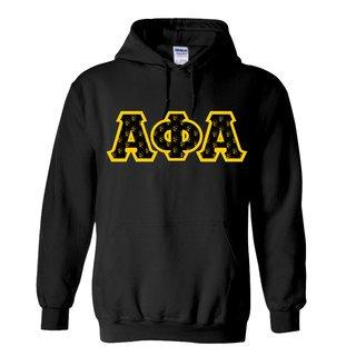 Alpha Phi Alpha Fraternity Crest - Shield Twill Letter Hooded Sweatshirt