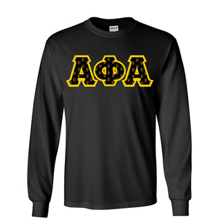Alpha Phi Alpha Fraternity Crest - Shield Twill Letter Longsleeve Tee