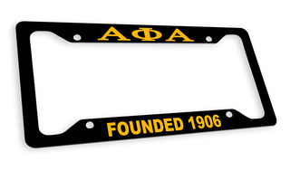 Alpha Phi Alpha Fraternity Founded License Plate Frame