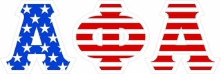 "Alpha Phi Alpha Giant 4"" American Flag Greek Letter Sticker"