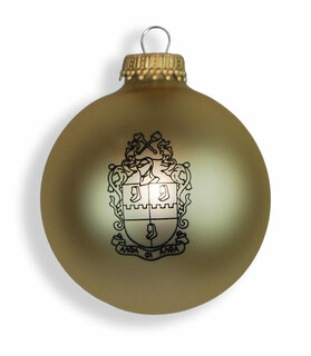 Alpha Phi Alpha Glass Christmas Ornament