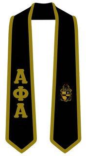 DISCOUNT-Alpha Phi Alpha Greek 2 Tone Lettered Graduation Sash Stole