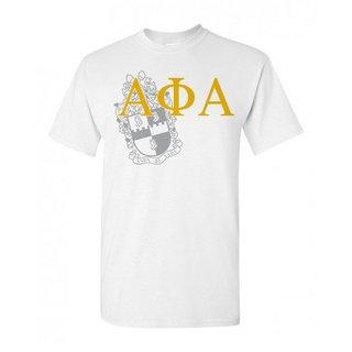 Alpha Phi Alpha Greek Crest - Shield T-Shirt