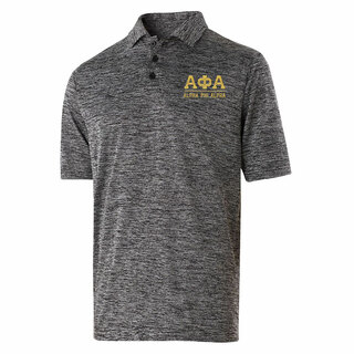 Alpha Phi Alpha Greek Letter Electrify Polo