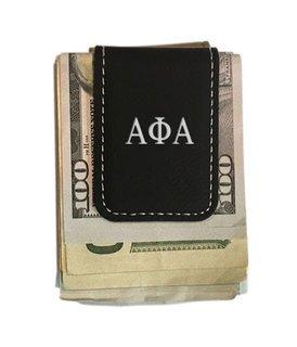 Alpha Phi Alpha Greek Letter Leatherette Money Clip