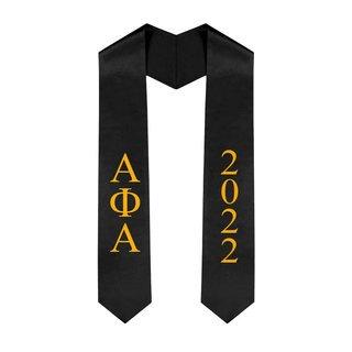 Alpha Phi Alpha Greek Lettered Graduation Sash Stole With Year - Best Value