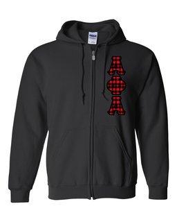"Alpha Phi Alpha Heavy Full-Zip Hooded Sweatshirt - 3"" Letters!"