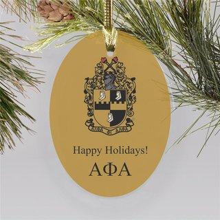 Alpha Phi Alpha Holiday Color Crest - Shield Ornament