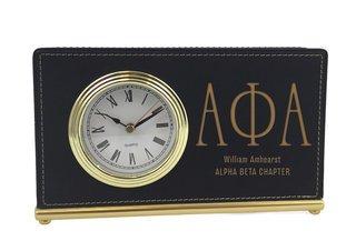 Alpha Phi Alpha Horizontal Desk Clock
