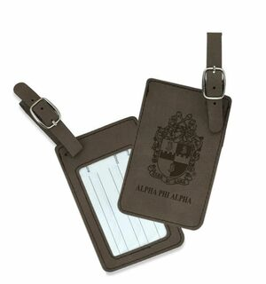 Alpha Phi Alpha Crest Leatherette Luggage Tag