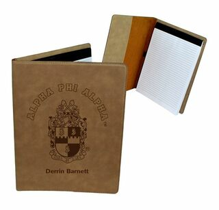 Alpha Phi Alpha Leatherette Portfolio with Notepad