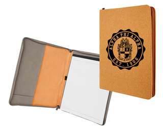 Alpha Phi Alpha Leatherette Zipper Portfolio with Notepad