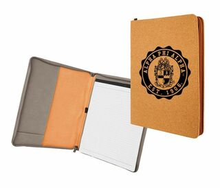 Alpha Phi Alpha Leatherette Zipper Portfolio with Notepad