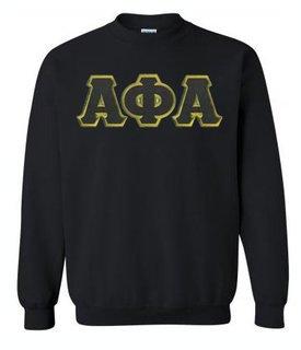 Alpha Phi Alpha Sewn Lettered Crewneck Sweatshirt
