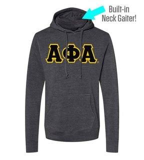 Alpha Phi Alpha Lettered Gaiter Fleece Hooded Sweatshirt