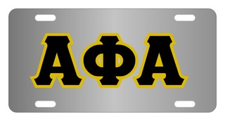 Alpha Phi Alpha Lettered License Cover