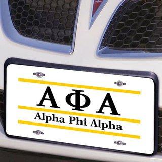 Alpha Phi Alpha Lettered Lines License Cover
