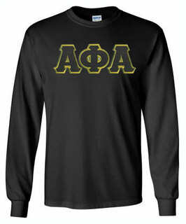 Alpha Phi Alpha Lettered Long Sleeve Tee- MADE FAST!