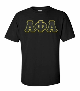 Alpha Phi Alpha Lettered T-shirt - MADE FAST!