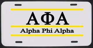 Alpha Phi Alpha License Plate