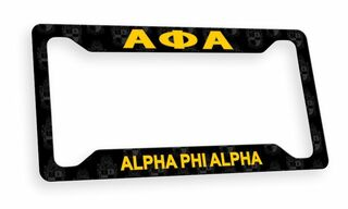 Alpha Phi Alpha Custom License Plate Frame