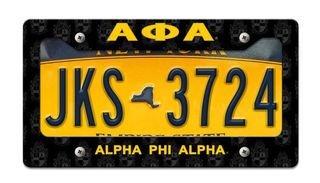 Alpha Phi Alpha License Plate Frame