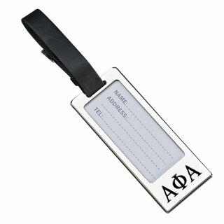 Alpha Phi Alpha Luggage Tag With Identification Window