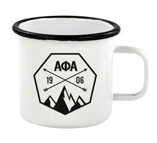 Alpha Phi Alpha Metal Camping Mug