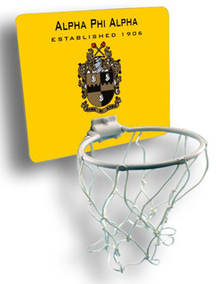 Alpha Phi Alpha Mini Basketball Hoop