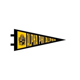 "Alpha Phi Alpha Pennant Decal 4"" Wide"