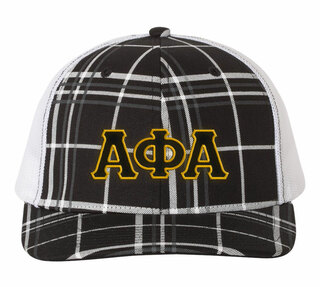Alpha Phi Alpha Plaid Snapback Trucker Hat