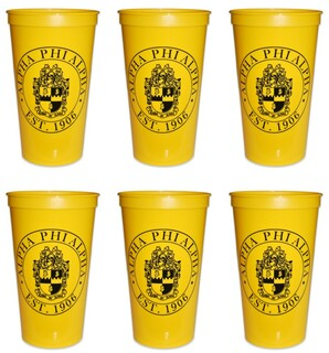 Alpha Phi Alpha Set of 6 Big Plastic Stadium Cups