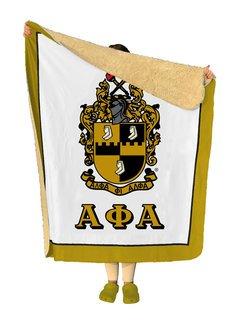 Alpha Phi Alpha Sherpa Lap Blanket