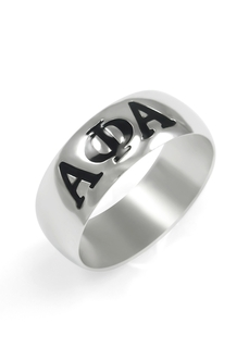 Alpha Phi Alpha Sterling Silver Band Ring