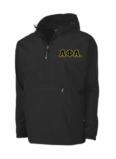 Alpha Phi Alpha Tackle Twill Lettered Pack N Go Pullover