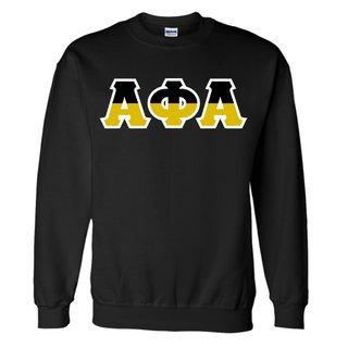 Alpha Phi Alpha Two Tone Greek Lettered Crewneck Sweatshirt