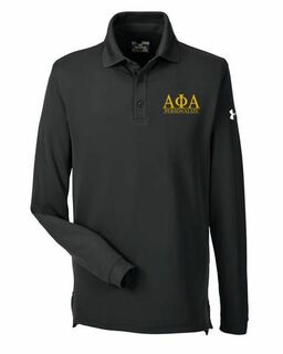 Alpha Phi Alpha Under Armour�  Men's Performance Long Sleeve Fraternity Polo