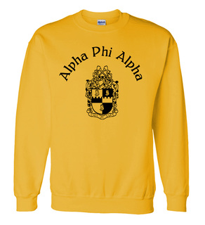 Alpha Phi Alpha World Famous Crest - Shield Crewneck Sweatshirt- $25!