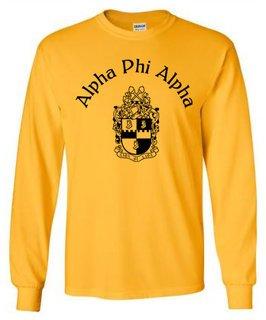 Alpha Phi Alpha World Famous Crest Long Sleeve T-Shirt- MADE FAST!