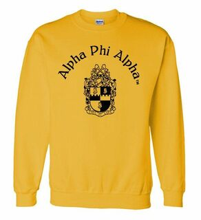 Alpha Phi Alpha World Famous Crest - Shield Printed Crewneck Sweatshirt- $25!