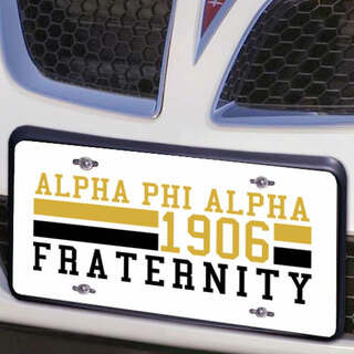 Alpha Phi Alpha Year License Plate Cover