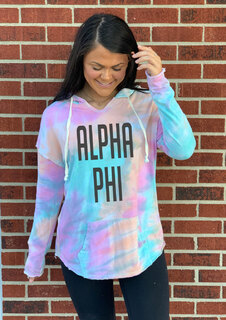 Alpha Phi Angel Terry Rainbow Sherbet Nora Pullover