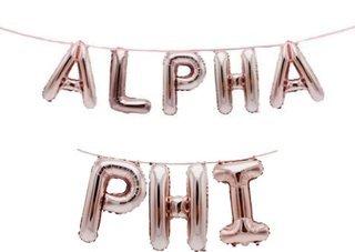 Alpha Phi Banner Balloon Set