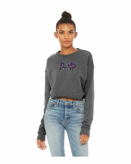 Alpha Phi Bella + Canvas - Women's Cropped Crew Fleece