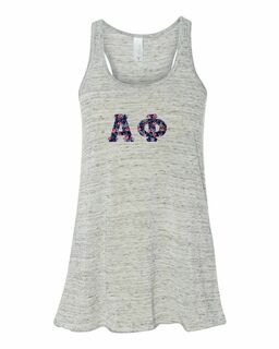 Alpha Phi Bella + Canvas - Women's Flowy Racerback Tank