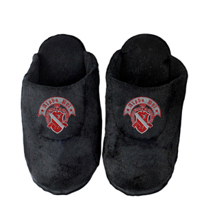 DISCOUNT-Alpha Phi Black Solid Slipper