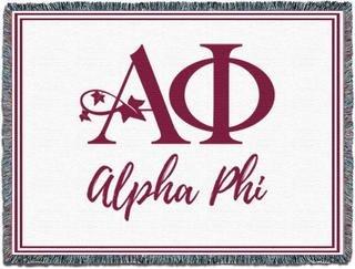 Alpha Phi Blanket Throw