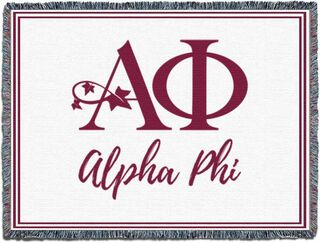 Alpha Phi Blanket Throw
