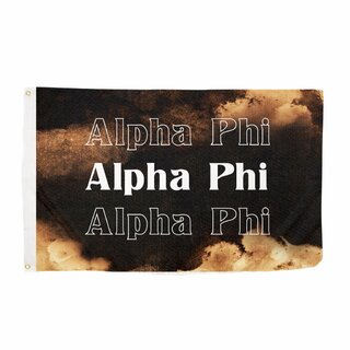 Alpha Phi Bleach Wash Flag