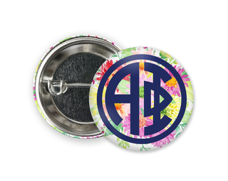 Alpha Phi Bouquet Button